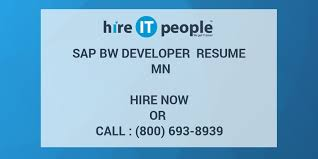 Sap Fico Sample Resume 3 Years Experience by Sap Bw Developer Resume Mn Hire It People We Get It Done