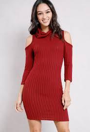 maroon sweater dress ribbed cowl neck sweater dress shop dresses at papaya clothing