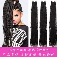 medium size packaged pre twisted hair for crochet braids hand made afro styles senegalese twist 2x crochet braids pre
