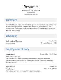 Resume Maker Online For Free by Easy Resume Template 81 Interesting Easy Resume Examples Of