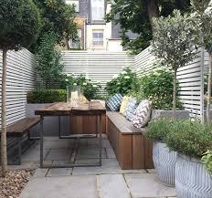 outdoor courtyard contemporary table benches garden design london interior and