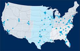 The United States Midwest Region Map by Connetics Transportation Group Clients And Case Studies