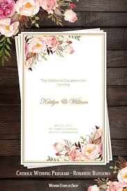 catholic mass wedding programs catholic church wedding program blossoms diy printable