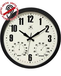 Patio Clock And Thermometer Sets by 14 25 Inch Patio Black Steel Wall Clock Clock By Room