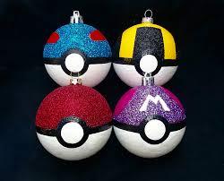pokeball ornament set hand painted pokeball pokemon holiday