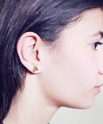 cartilage earrings men 16g 5mm 7mm solid triangle cartilage earring ear plugs