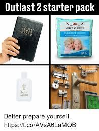Adult Diaper Meme - outlast 2 starter pack adult diapers lin dewasa antibacterial