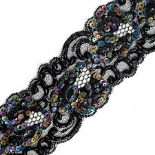 sequin ribbon pearl beaded sequin ribbon lace trim 2 1 2 inch joyce trimming