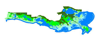 South Louisiana Map by Major Ecosystems And Regions Acadian Pontchartrain Nawqa