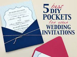 diy pocket invitations best diy pocketfolds for your wedding invitations