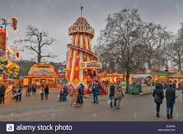 winter in hyde park a with helter skelter