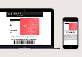 email giftcards gift cards vouchers debenhams