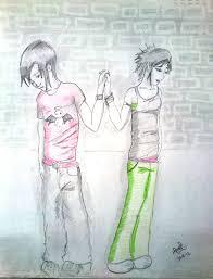 pencil colors sketch of a sad couple desipainters com