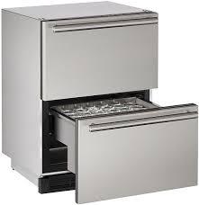 uline rolling tool cabinet u line stainless refrigerator drawers u 1224dwrsod 00a