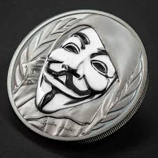 silver mask 2016 high relief silver fawkes mask coin moderncoinmart
