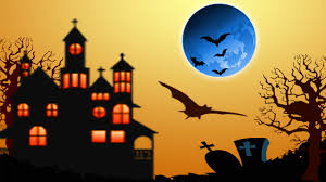 halloween bats from blue moon over tombstones free wallpaper