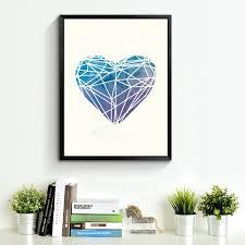 aliexpress com buy watercolor heart canvas art print poster