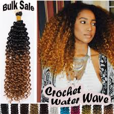 crochet braids with human hair top full head water wave deep curly crochet braids 100 human hair