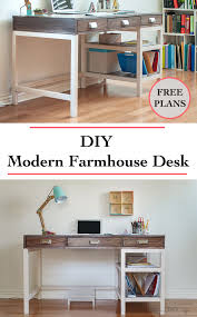 Diy Modern Desk Diy Modern Farmhouse Desk Plans And Anika S Diy