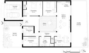 plan maison en l 4 chambres plan maison plain pied 4 chambres ooreka