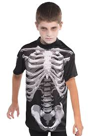 Halloween T Shirt by Christys Dress Up Childs Black And Bone Skeleton T Shirt Kids
