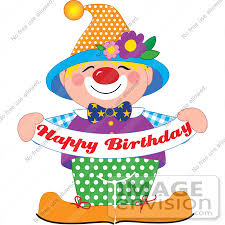 clowns for birthday clip graphic of a and colorful party clown holding a