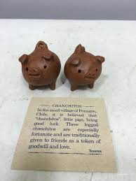 Pig Decor For Home by Chilean Pig Clay 3 Legged Good Luck Handmade Handcrafted Clay Pig