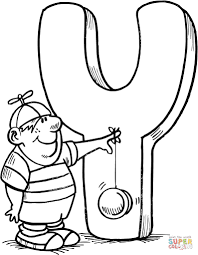 letter y coloring pages for kids download 10646