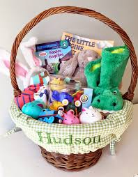 filled easter baskets hudson s easter basket the girl in the shoes