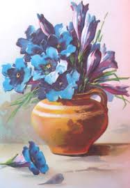 Pretty Vase Blue Flowers In A Pretty Vase Old Fashioned Flower Pictures And