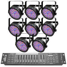 chauvet slimpar 56 led light chauvet dj slimpar 56 led lights 8 pack and obey 10 dmx 512 reverb