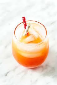 festive and refreshing sparkling campari orange cocktail