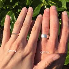 wedding band photos band widths with these rings