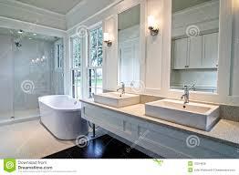 Modern White Bathroom - snow white living room modern interior stock photography image