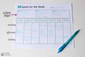 Smart Goals Worksheets Weekly Goals Printable Free Printable Mom 4 Real