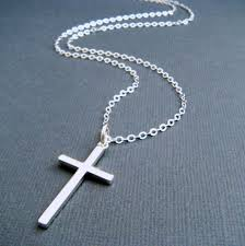 jewelry silver cross necklace images Long silver cross necklace large sterling silver cross jpg