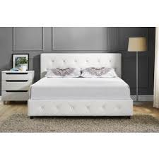 White Queen Platform Bed With Storage White Bed Frames Queen Home Design Ideas