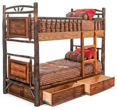 Rustic Bunk Bed Rustic Bunk Bed With Drawers Rustic Bunk Beds By Woodland
