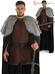 mens game of thrones cape adults medieval tunic fancy dress