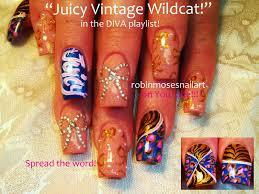 robin moses nail art leopard and bow nail art rhinestone bow