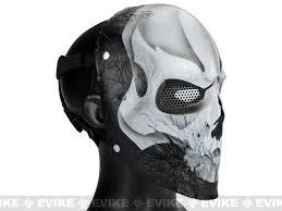 cool masks evike r custom fiberglass wire mesh 40d white skull mask