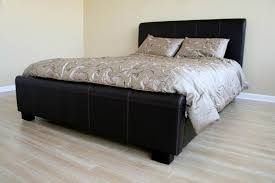 Black Platform Bed Modern Black Leather Size Platform Bed 979 00