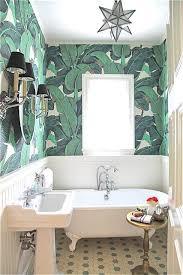 wallpaper designs for bathroom 16 glamorous bathrooms with wallpaper banana leaves bananas and