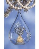 here s a great deal on lighted glass cross ornaments