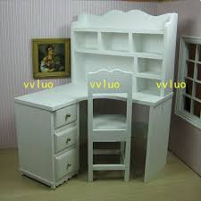 Customized Desk Accessories Doll Furniture Customized Desk Chair Set 1 6 Scale Silkstone