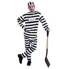 Halloween Inmate Costume Convict Costume Xlarge