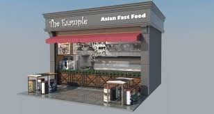 entry 6 by yadisudjana for architecture design a small fast food