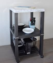 narrow kitchen island ideas quick easy chopping station small kitchen island ikea hackers