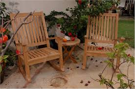 Outdoor Wood Rocking Chair Outdoor Teak Wood Rocking Chair 3 Pc Set W Round Table Set 47