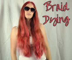 What Color To Dye Your Hair Braid Dying 4 Steps With Pictures